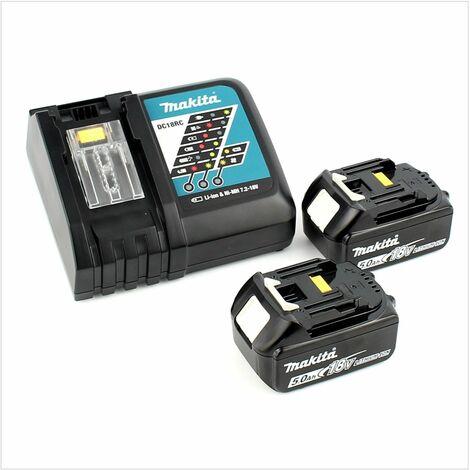 Makita DHP 482 RTJ 18 V Li-Ion Perceuse visseuse à percussion sans fil + Boîtier Tanos Systainer® T-Loc II + 2x Batteries BL1850 5,0Ah + Chargeur DC 18 RC