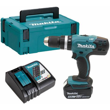 Makita DHP453 18v Combi Drill with 1 x 5.0Ah Battery