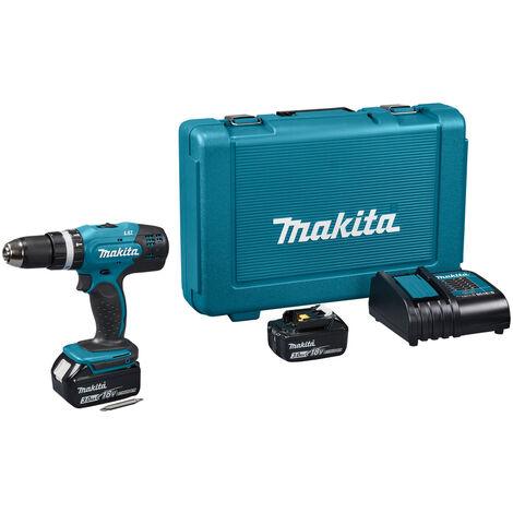 Makita DHP453SFE Perceuse visseuse à percussion à batteries 18V Li-Ion set (2x batterie 3,0Ah) dans coffret