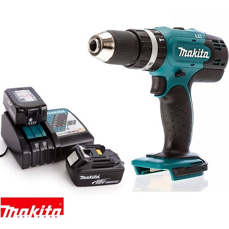 Makita DHP453Z 18V 13mm 2 Speed LXT Combi Drill With 2 x 5Ah Batteries &  Charger