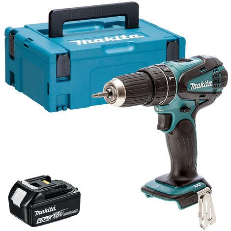 Makita DHP456Z 18V Li-ion Combi Hammer Drill with 1 x 4.0Ah Battery in Case:18V