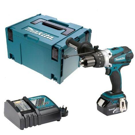 Makita DHP458RF LXT 18v Combi Hammer Drill - 1 Battery - Replaces BHP458