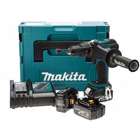 Makita DHP458RF3J 18V Cordless li-ion Compact 2-speed Combi Drill Kit