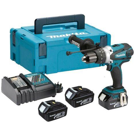 Makita DHP458RF3J LXT 18v Combi Hammer Drill 3 Batts + Makpac DHP458