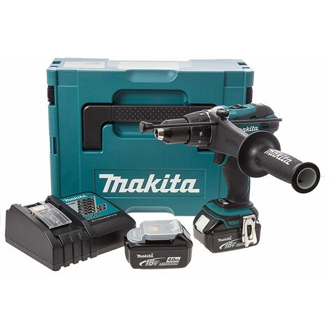 Makita DHP458RMJ 18V Li-Ion batería Taladro combinado set (2x 4.0Ah batería) in Mbox