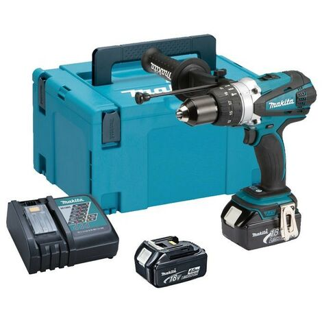 Makita DHP458RMJ LXT 18v Combi Hammer Drill + 2 x 4.0ah Batts + Makpac