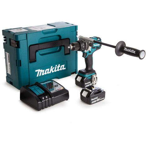 Makita DHP481RTJ 18v Brushless Combi Drill with 2 x 5.0Ah Batteries
