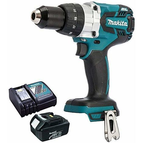 Makita DHP481Z 18V Brushless Combi Hammer Drill With 1 x 3.0Ah Battery & Charger:18V