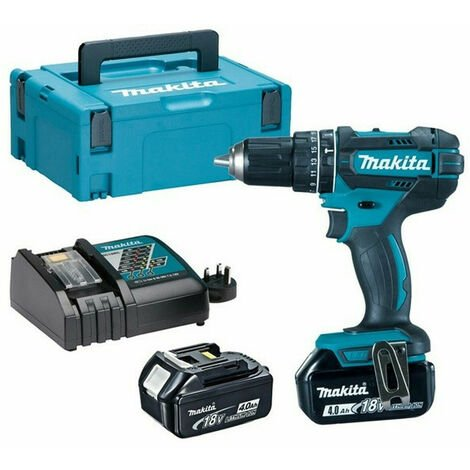 Makita DHP482 18V Cordless LXT Combi Drill with 2x 4.0Ah Batteries