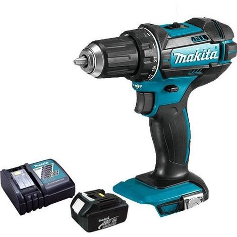 Makita DHP482 18v LXT Combi Drill With 1 x 3.0Ah Battery & Charger:18V