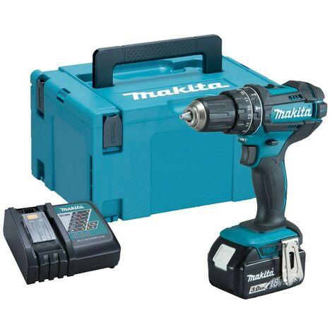 Makita DHP482RF 18v LXT Combi Hammer Drill - 1 x 3.0ah Battery + Charger