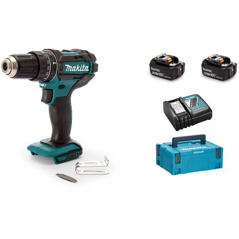 Makita DHP482RTJ - Set de Perceuse visseuse à percussion 18 V Li-Ion (2x batteries 5.0Ah) et MAKPAC