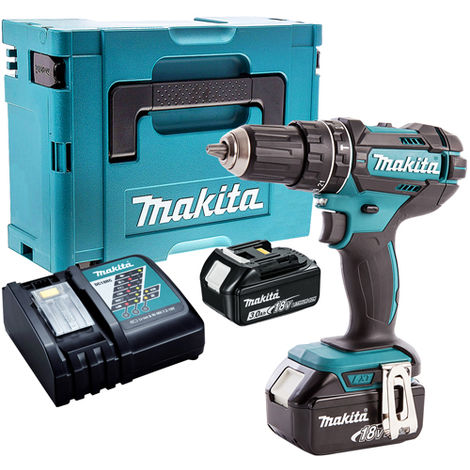 Makita DHP482Z 18V Combi Drill with 2 x 3.0Ah Batteries & Charger in Case:18V