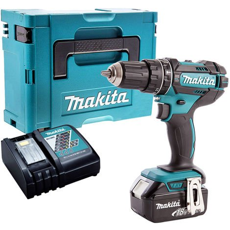 Makita DHP482Z 18V LXT Combi Drill with 1 x 5.0Ah Battery & Charger in Case:18V