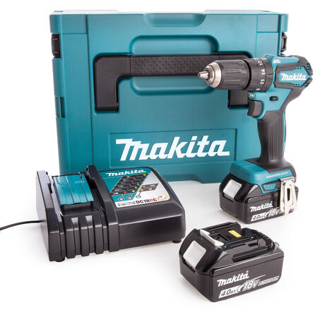 Makita DHP483RMJ 18V Brushless Compact Combi Drill With 2 x 4.0Ah Batteries
