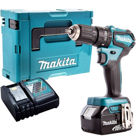 Makita DHP483Z 18V Brushless Combi Drill with 1 x 4.0Ah Battery & Charger in Case:18V