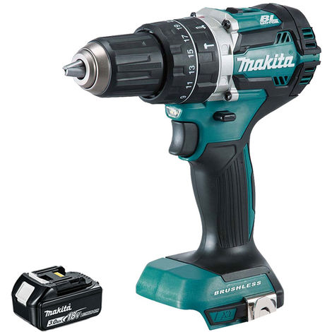 Makita DHP484 18V LXT Cordless Brushless Combi Drill with 1 x 3.0Ah Battery