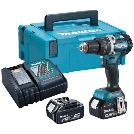 Makita DHP484RMJ 18V LXT BRUSHLESS Combi Hammer Drill - 2 x 4.0ah Batteries