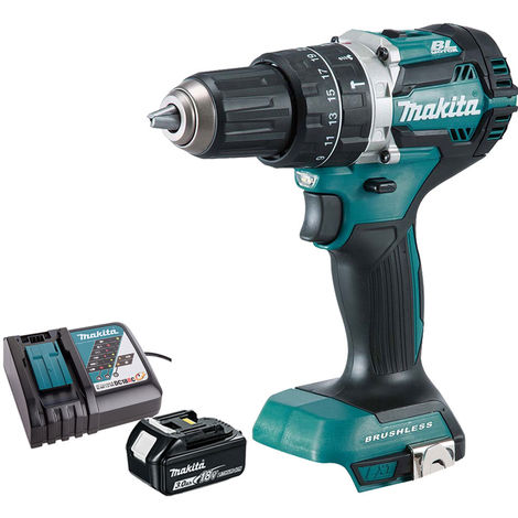 Makita DHP484Z 18V LXT Brushless Combi Drill with 1 x 3.0Ah Battery & Charger:18V