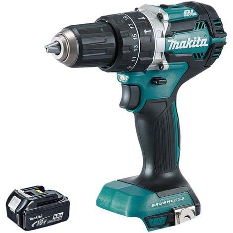 Makita DHP484Z 18V LXT Cordless Brushless Combi Drill with 1 x 5.0Ah Battery:18V