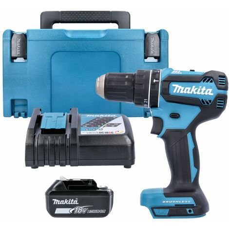 Makita DHP485 18V Brushless Combi Drill With 1 x 5.0Ah Battery, Charger & Case