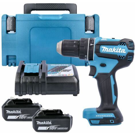 Makita DHP485 18V Brushless Combi Drill With 2 x 5.0Ah Batteries, Charger & Case
