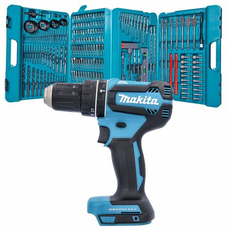 Makita DHP485 18V Brushless Combi Drill With P-44046 216 Pcs Drill & Screwdriver Set