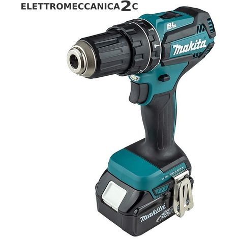 MAKITA DHP485RFJ avvitatore a percussione 18v 2x3ah brushless 13mm 62Nm