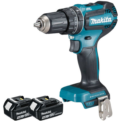 Makita DHP485Z 18V Brushless Combi Drill Body With 2 x 4.0Ah Batteries