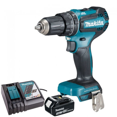 Makita DHP485Z 18V Brushless Combi Drill with 1 x 3.0Ah Battery & Charger