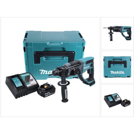 Makita DHR 202 RT1J 18 V Perforateur Burineur SDS-Plus avec boîtier Makpac + 1x Batterie 5,0 Ah + Chargeur