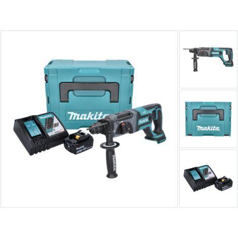 Makita DHR 241 RF1J 18 V Li-Ion Perforateur-Burineur sans fil SDS-Plus + Boîtier Makpac + 1x Batterie BL 1830 3,0 Ah + Chargeur DC 18 RC