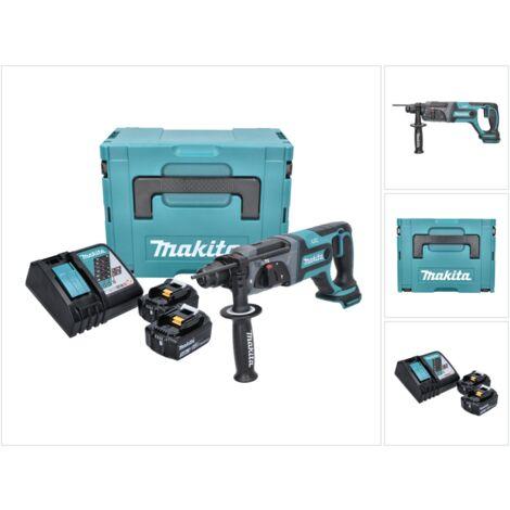 Makita DHR 241 RFJ Perforateur-Burineur sans fil 18 V Li-Ion + 1x Boîtier de transport Makpac SDS-Plus + 2x Batteries BL 1830 3,0 Ah + Chargeur rapide DC 18 RC