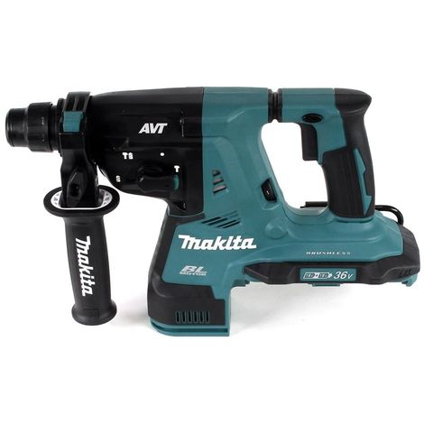 Makita DHR 280 G4J 2 x 18 V 36 V Li-Ion Perforateur-burineur sans fil 28 mm Brushless pour SDS-PLUS + Coffret MakPac + 4 x Batteries 6,0 Ah - Sans Chargeur