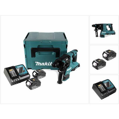 Makita DHR 280 RMJ Perforateur burineur sans fil Brushless SDS-PLUS + Coffret MakPac + 2 x Batteries 18 V - 4 Ah / 4000 mAh + Chargeur