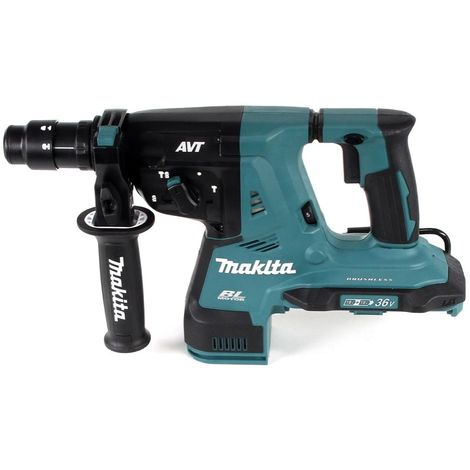Makita DHR 281 PTJ Brushless Perfo-burineur sans fil 28 mm 2 x 18 V pour SDS-PLUS + Mandrin auto-serrant interchangeable + Coffret MakPac + 2 x Batteries 5,0 Ah + Chargeur double