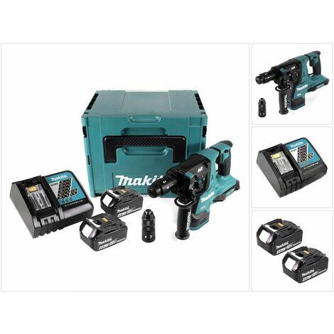 Makita DHR 281 RMJ Brushless Perforateur-Burineur sans fil 28 mm + Coffret Makpac + 2x Batteries 18 V- 4 Ah/4000 mAh + Chargeur