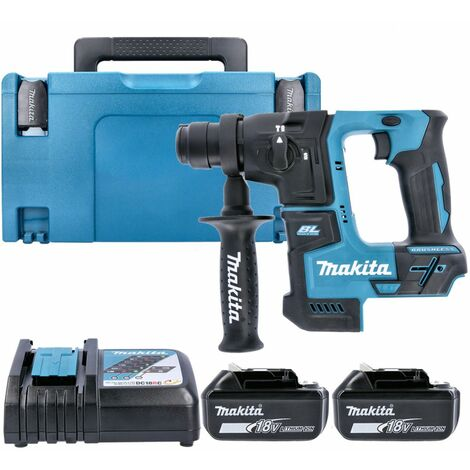 Makita DHR171 18V LXT SDS+ Rotary Hammer Drill With 2 x 6.0Ah Batteries, Charger & Case
