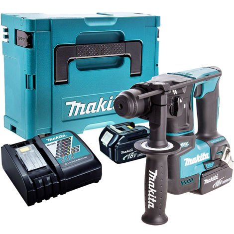 Makita DHR171Z 18V SDS+ Brushless Hammer Drill with 2 x 5.0Ah Batteries & Charger in Case:18V