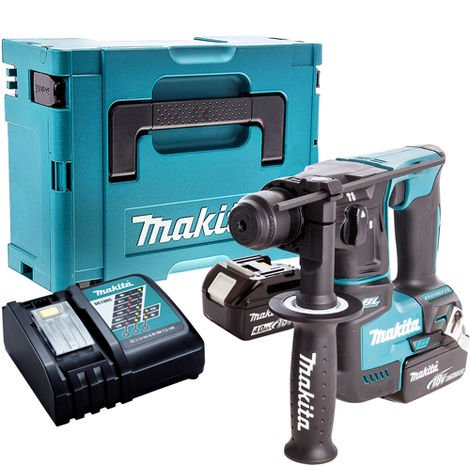 Makita DHR171Z Brushless SDS+ Hammer Drill with 2 x 4.0Ah Battery & Charger in Case:18V