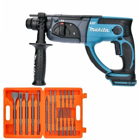 Makita DHR202 18V LXT SDS Plus Hammer Drill With 17 Piece SDS Drill Bit Se