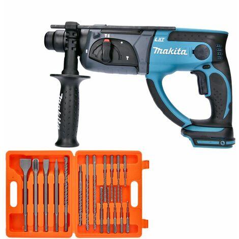 Makita DHR202 18V LXT SDS Plus Hammer Drill With 17 Piece SDS Drill Bit Se