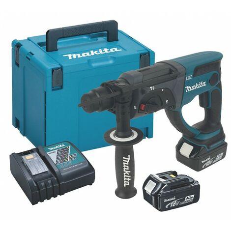 Makita DHR202RMJ 18V 2kg Lithium SDS Hammer Drill + 2 x 4.0 Batteries + Case