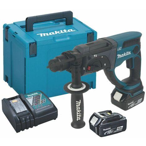 Makita DHR202RMJ 18V Litio-Ion Batería Juego de martillos combinados SDS-plus (2 baterías de 4.0Ah) en Mbox - 2J