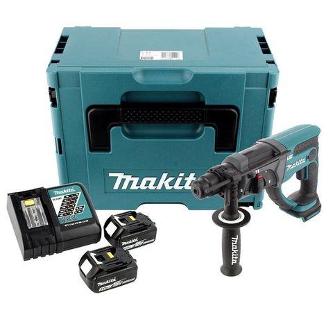 Makita DHR202RTJ Perfo-burineur SDS-plus à batteries 18V set (2x batterie 5,0Ah) dans MAKPAC - 1,9J