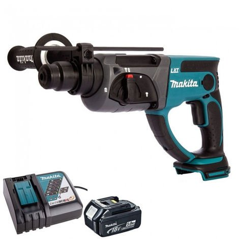 Makita DHR202Z 18V SDS+ Hammer Drill With 1 x 5.0Ah Battery & Charger:18V