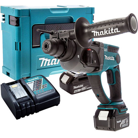 Makita DHR202Z SDS+ Hammer Drill with 2 x 4.0Ah Battery & Charger in Case:18V