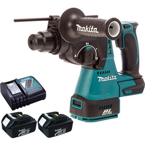 Makita DHR242 18V Brushless SDS Rotary Hammer With 2 x 3.0Ah Charger