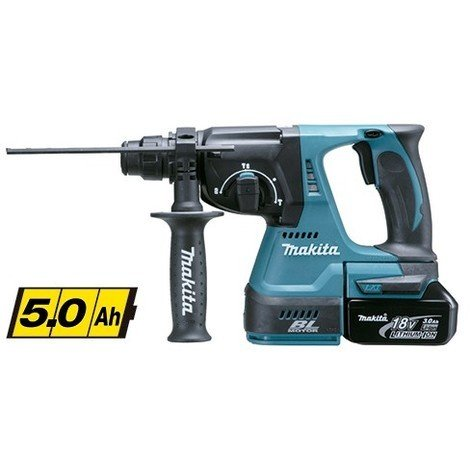 Makita DHR242RTJ - Martillo ligero 24mm 18V Litio BL 5,0Ah MakPac