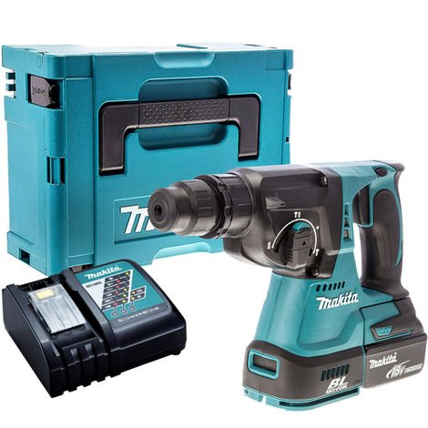 Makita DHR242Z 18V Brushless SDS+ Hammer Drill with 1 x 3.0Ah Battery & Charger in Case:18V